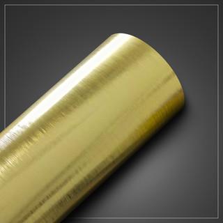 Papel de Parede - Metallic Escovado Ouro - med. 1 metro x 61 cm