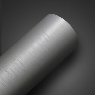 Papel de Parede - Escovado Prata - med. 1 metro x 61 cm